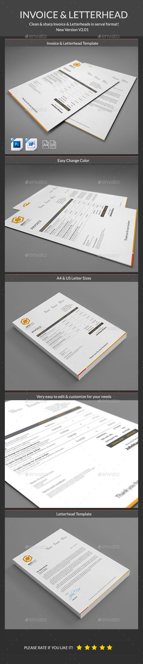 Invoice with letterhead template psd download here http invoice with letterhead template psd download here httpgraphicriver spiritdancerdesigns Choice Image