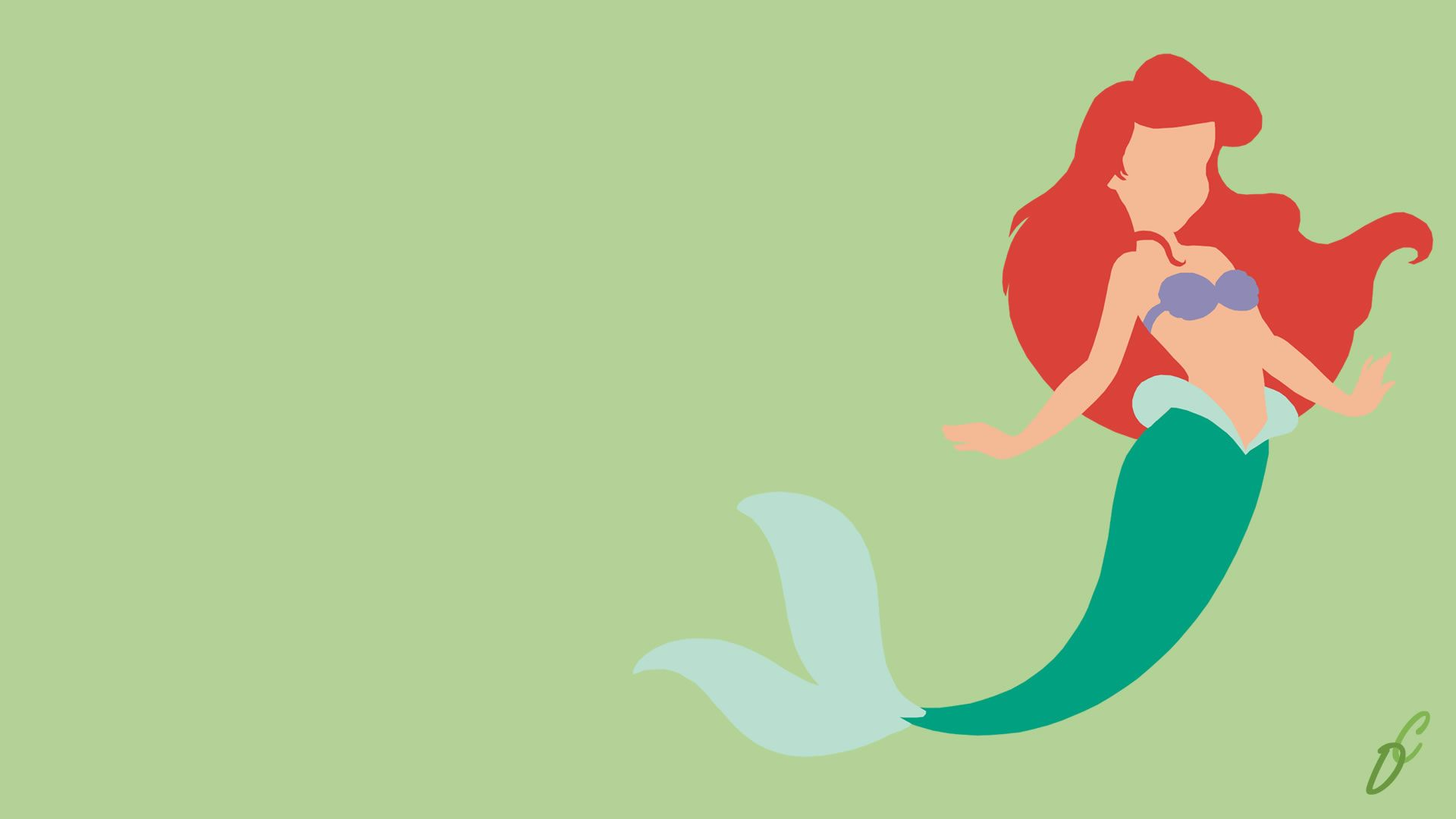 Disney Princess Minimalist Wallpapers