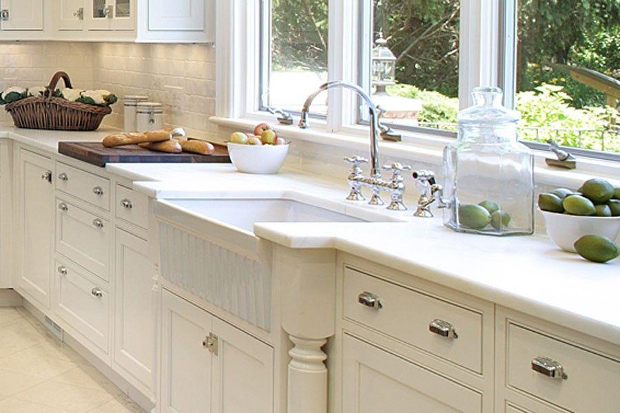 Gorgeous White On White Whitehaus Farmhaus Fireclay Sink