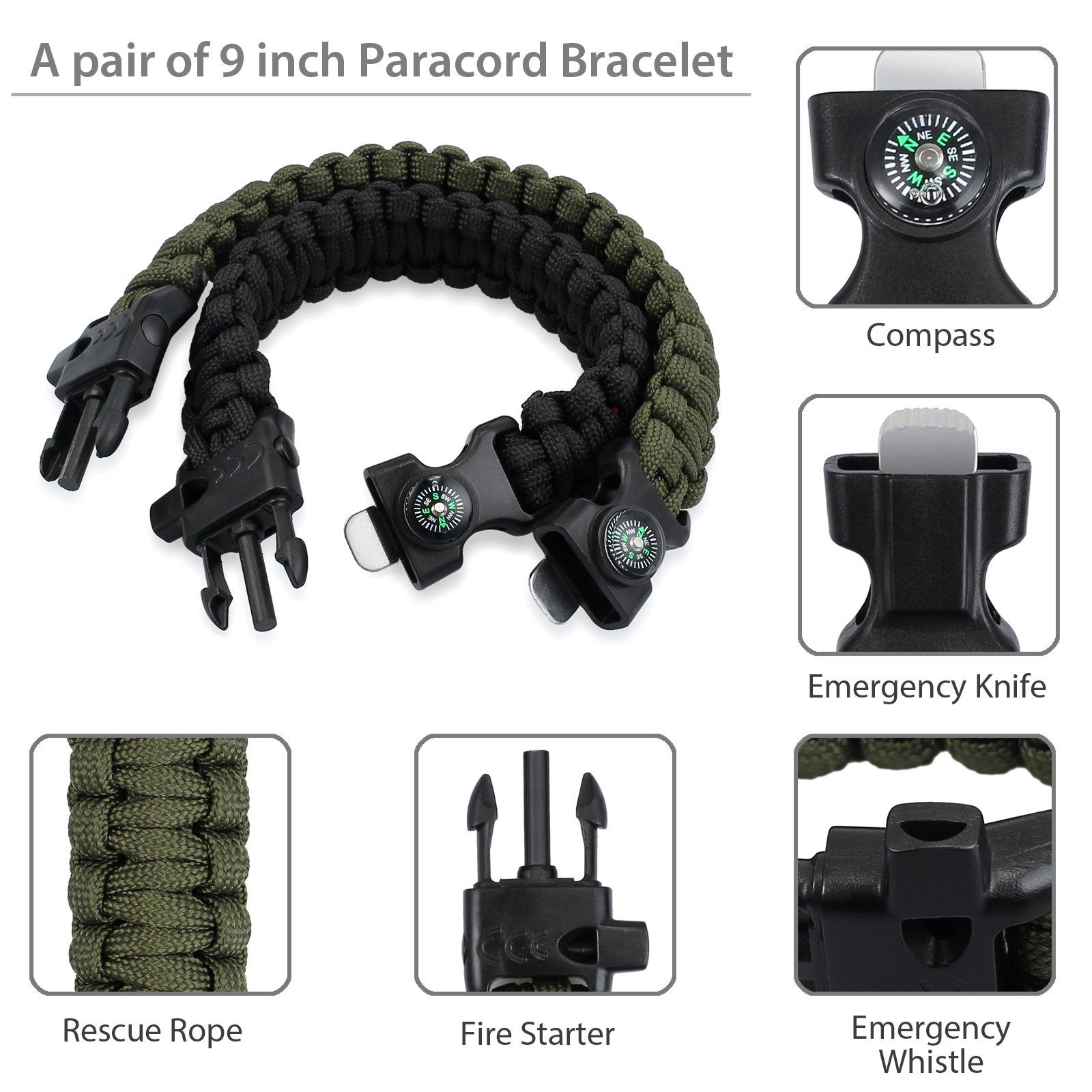 Survival Chain Saw Pocket Gears Hand ChainSaw Emergency Camping Kits W