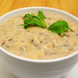 Cream of Chicken with Wild Rice Soup~love this soup at Panera, so hoping it is just as good homemade!