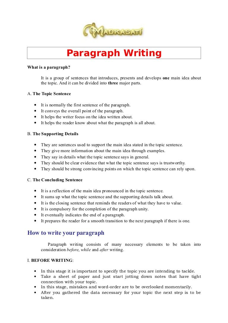 Paragraph Writing What is a paragraph? It is a group of