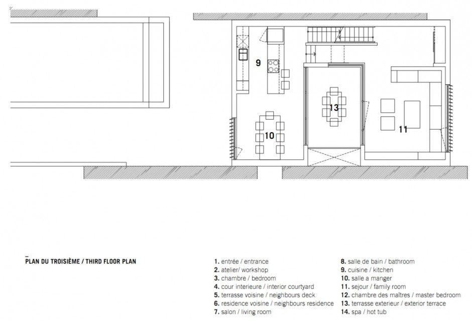 nh_090813_16 Architecture (Conceptual) Pinterest Square feet - plan salon cuisine sejour salle manger