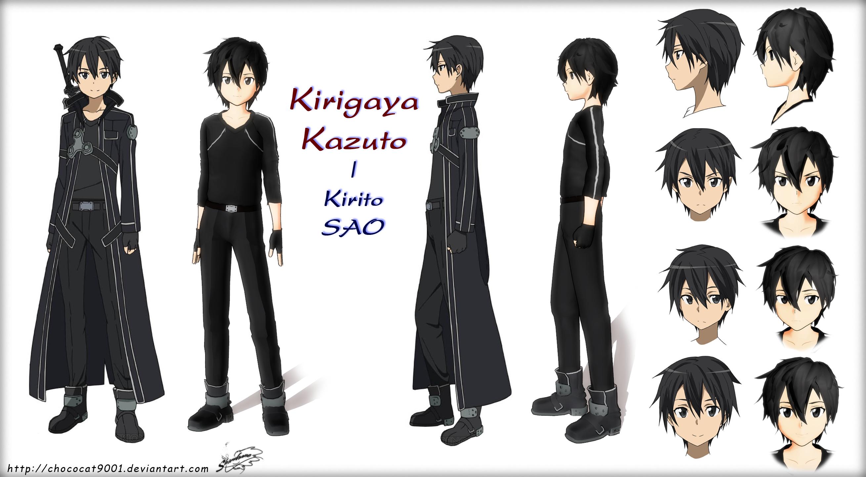 Kirigaya Kazuto MMD Kirito in SAO WIP by chococat9001