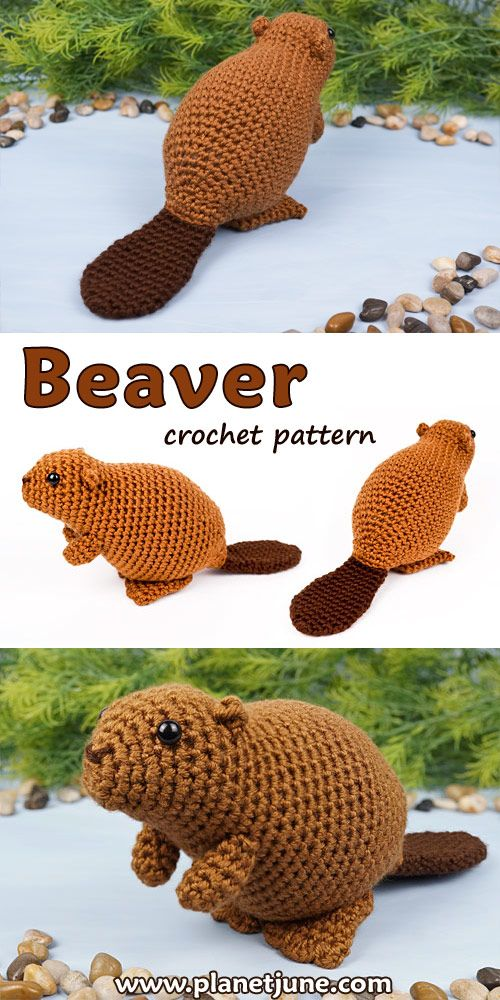 Beaver amigurumi crochet pattern #crochetanimals