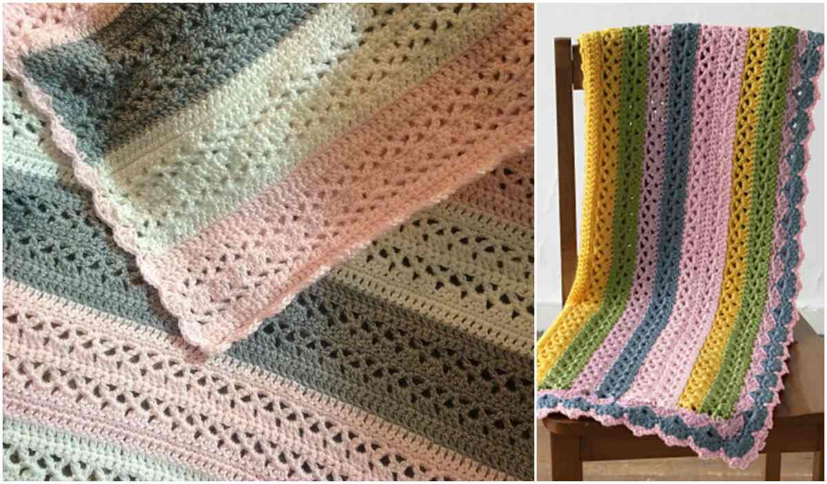 Summer Stripes Baby Afghan [Free Crochet Pattern] | Baby warmer ...
