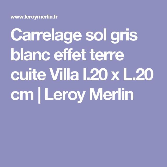 Carrelage Sol Gris Blanc Effet Terre Cuite Villa L 20 X L 20 Cm Artens Carrelage Sol Carrelage Et Sol Exterieur