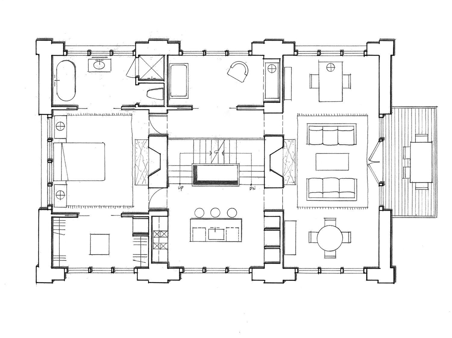Coach House Haver And Skolnick Architects Coach House Architectural Floor Plans House Plans