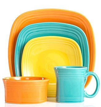 Fiesta Square Dinnerware Collection - Casual Dinnerware - Dining \u0026 Entertaining - Macy\u0027s -Love these colors!  sc 1 st  Pinterest & Love to mix and match the beautiful colors!   Fiesta Ware Old And ...