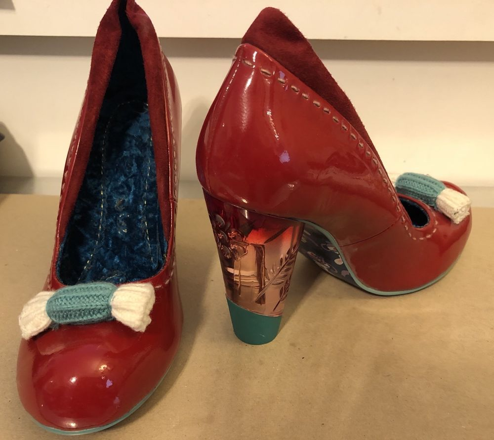 229041d63d3 IRREGULAR CHOICE Size 8.5 Lucite Heel Red Patent VERY CHERRY ...