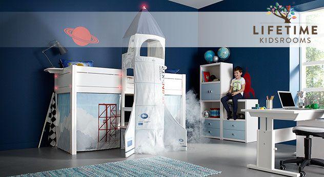 Das Wohl Coolste Kinderbett überhaupt! Modernes Bett Mit Separat Angebautem  Raketen Turm! Reinschauen
