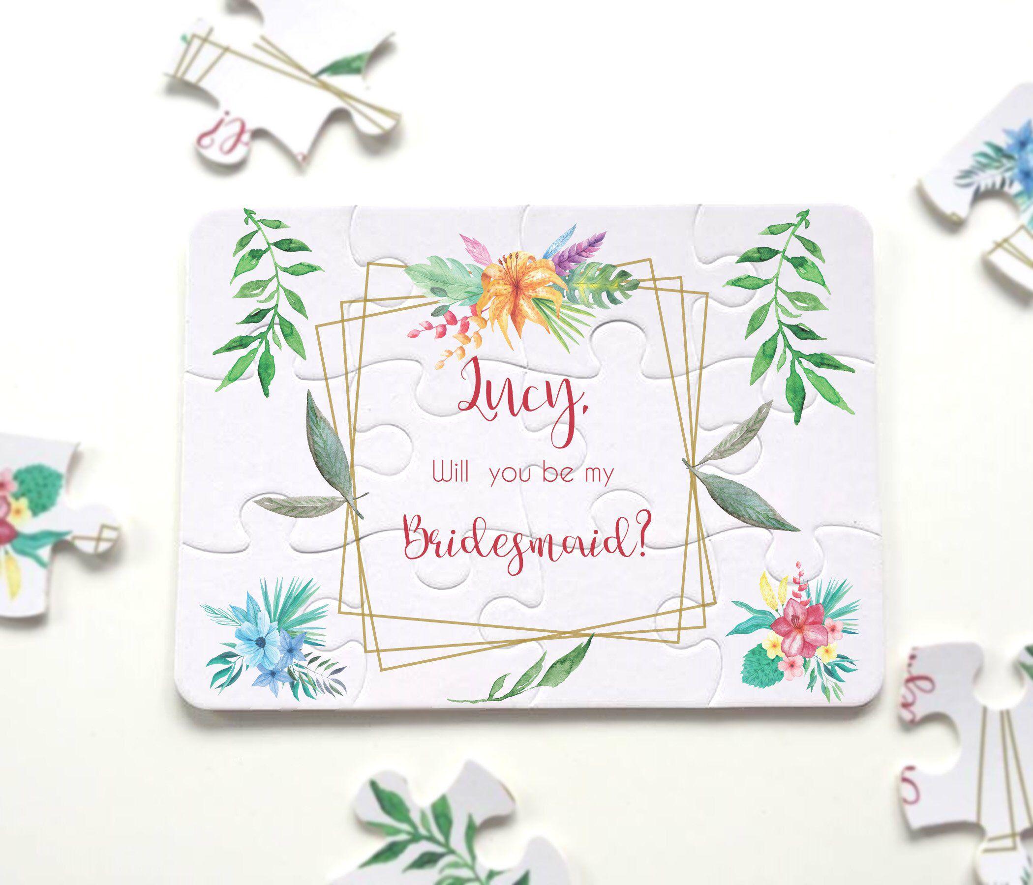 Bridesmaid proposal bridemsaid proposal puzzle flower