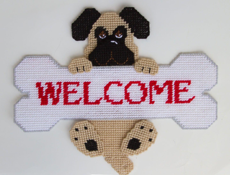 Old English Bulldog Tissue Topper-Plastic Canvas Pattern or Kit