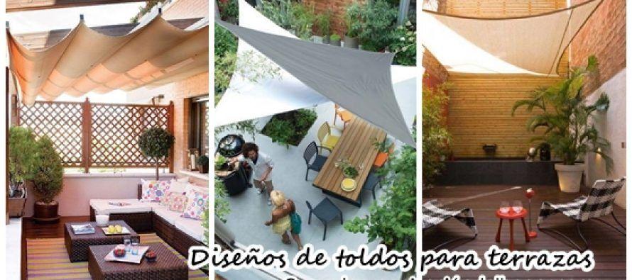 28 Diseños de toldos para terrazas Gardens