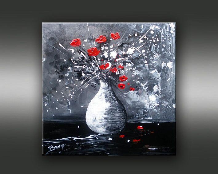 Galerie de l 39 artiste peintre bruni vente de tableaux - Tableau rouge et noir ...