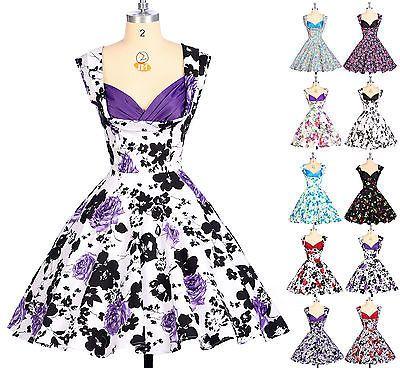 Details Zu 50er 60er Jahre Tanz Kleid Zum Petticoat Vintage Mode