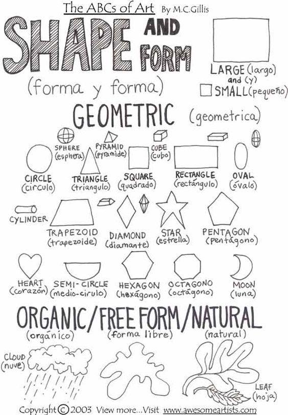 math worksheet : shape elements of art and abc printable