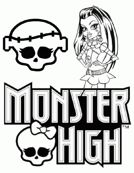 free printable picture of monster high to color for girls - Girls Coloring Pages Monster High