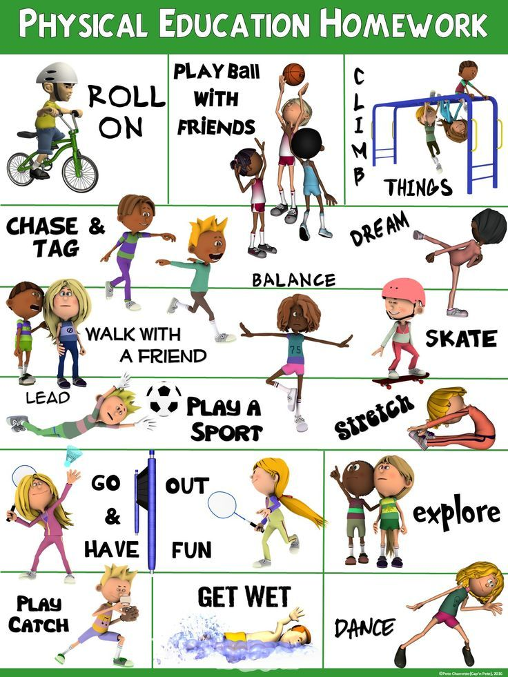 PE Poster Physical Education Homework Physical