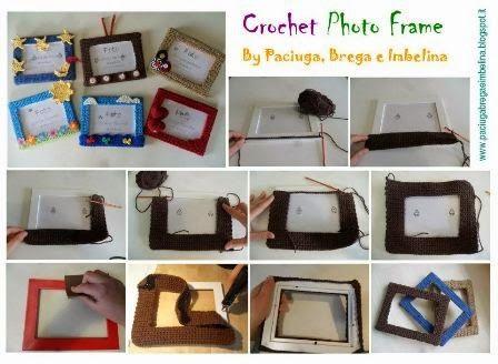 Crochet Cover Frame - Tutorial  ❥ 4U // hf