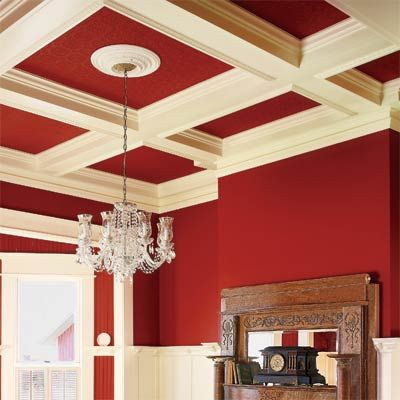 12 DIY Projects to Add OldHouse Charm Coffer Ceiling and Ceilings