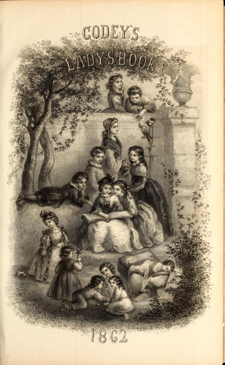 Godeys ladys book january to december 1862 with