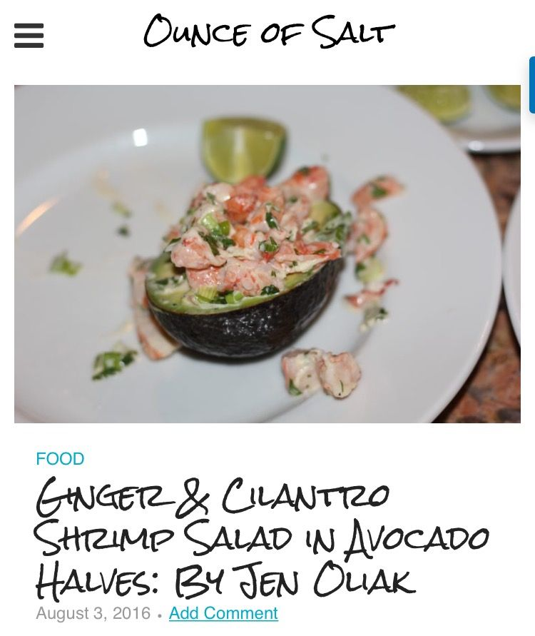 I had to take advantage of avocado season with Gwyneth Paltrow's ginger and cilantro shrimp salad in avocado halves. A plus is that the presentation is so beautiful. This would make a great appetizer at your next party. Visit my post for the recipe!