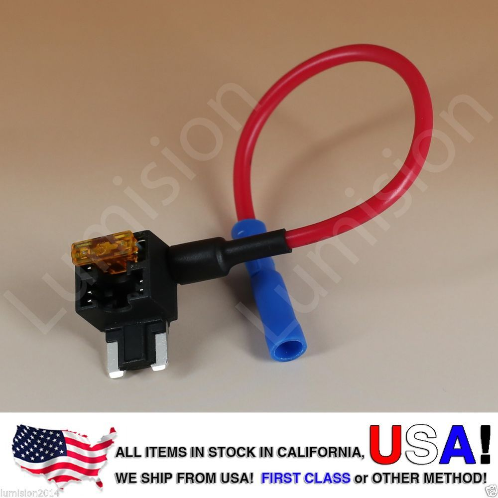 Add A Circuit Blade Style Atm Low Profile Mini Fuse Holder Tap Lr4 Box