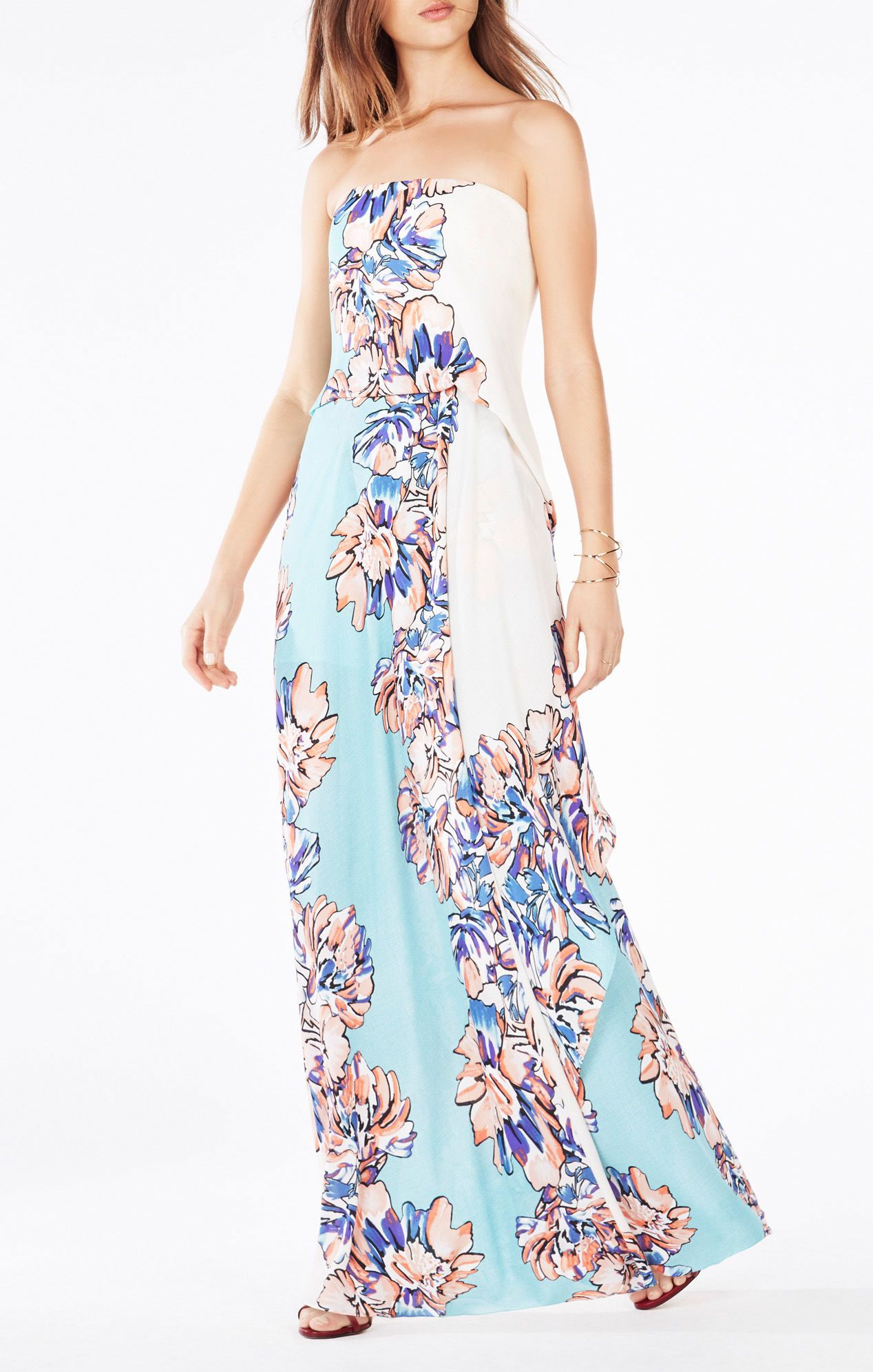 Grace Strapless Floral Print Dress Dresses Pinterest Dresses