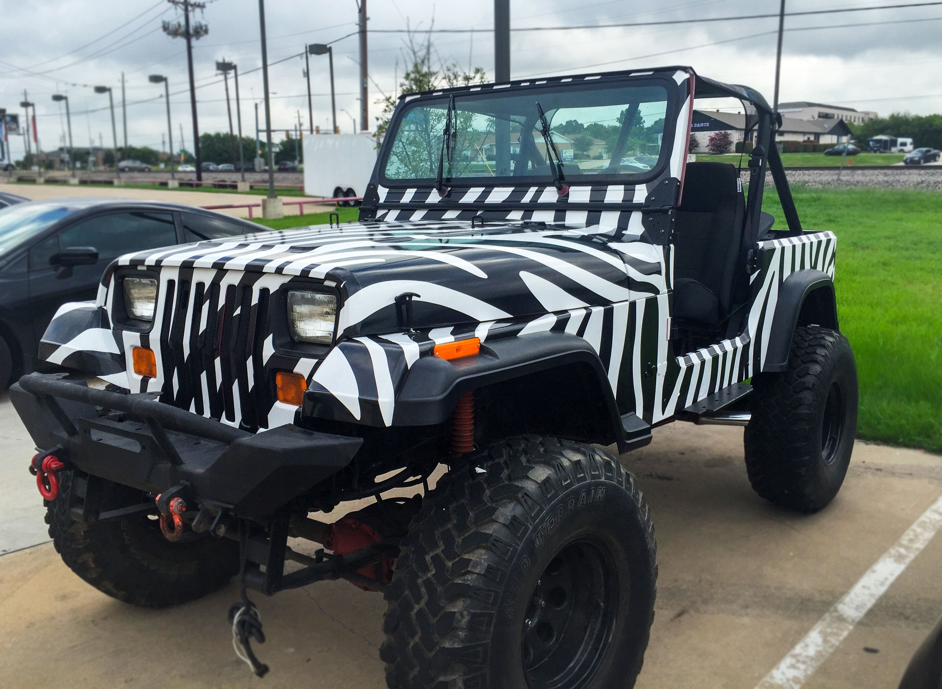 Zebra Print Jeep Wrap Car Wrap Car Wrap Design Custom Cars