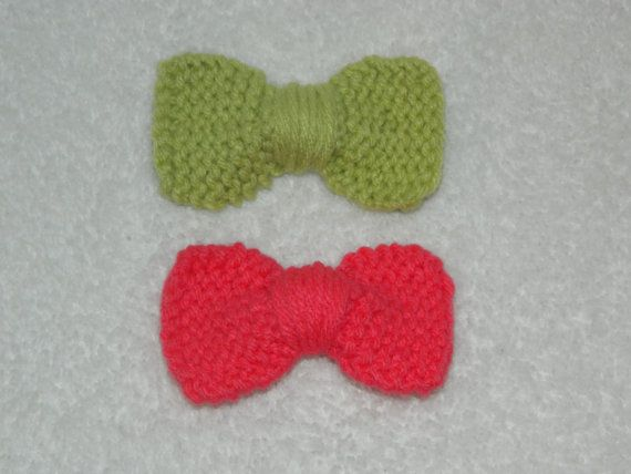 Knit Hair Bows from TheBlackCows on Etsy!