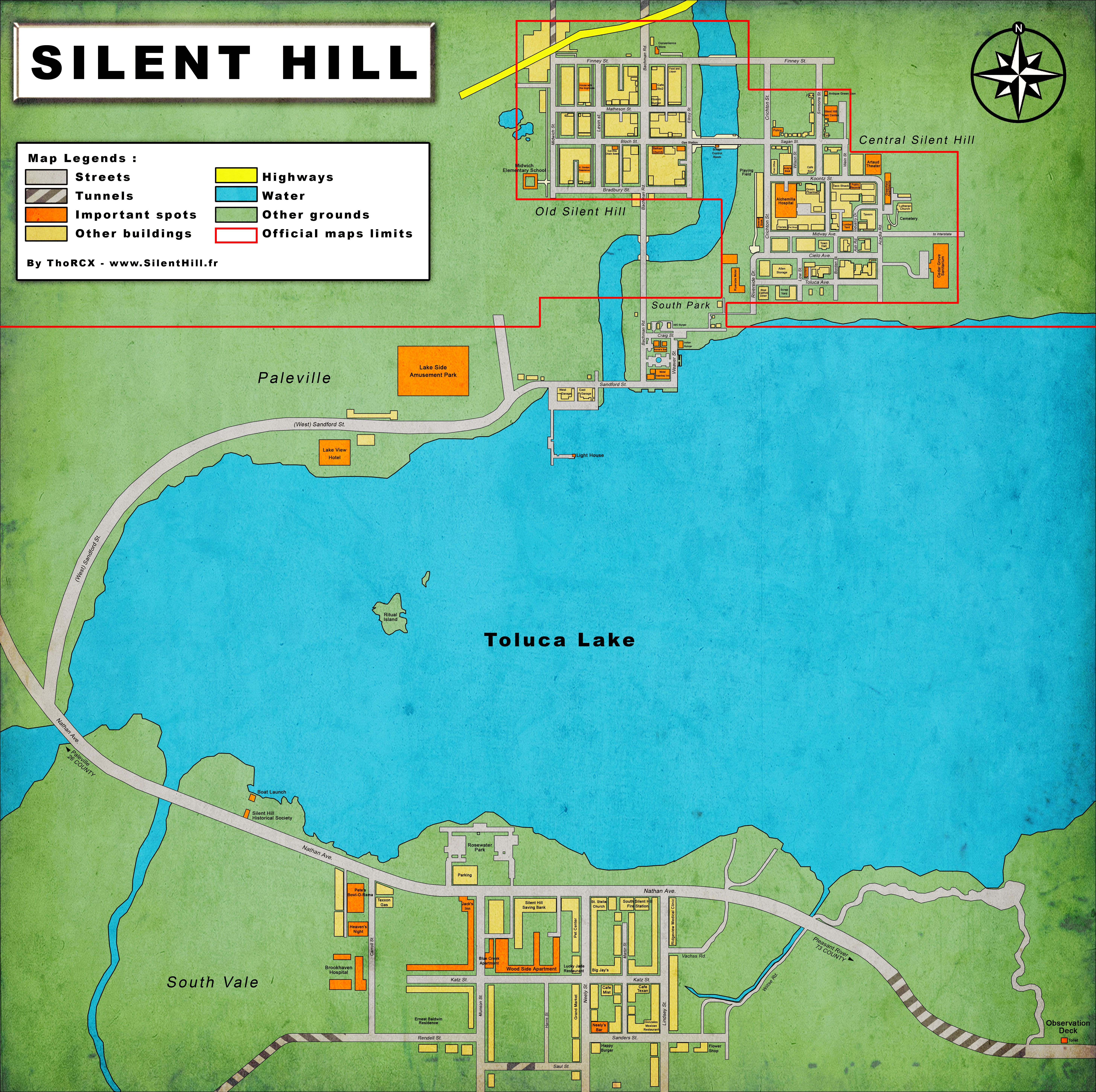 Silent Hill Town map Lol toluca lake takes up the Majority of the