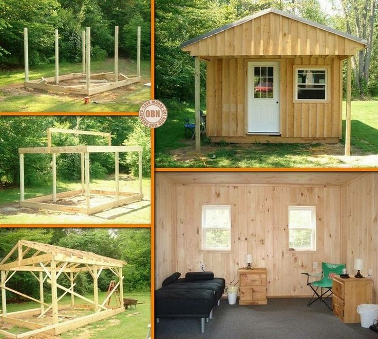Need A Weekend Getaway But On A Tight Budget? Why Not Build Your Own DIY · Small  CabinsSmall ...