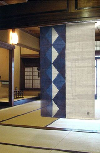Find This Pin And More On Japanese Indigo (mostly). Japanese Noren Curtain  ...