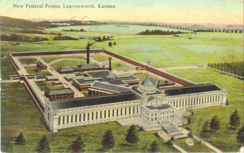 Prison Postcard Google Search Fort Leavenworth Federal