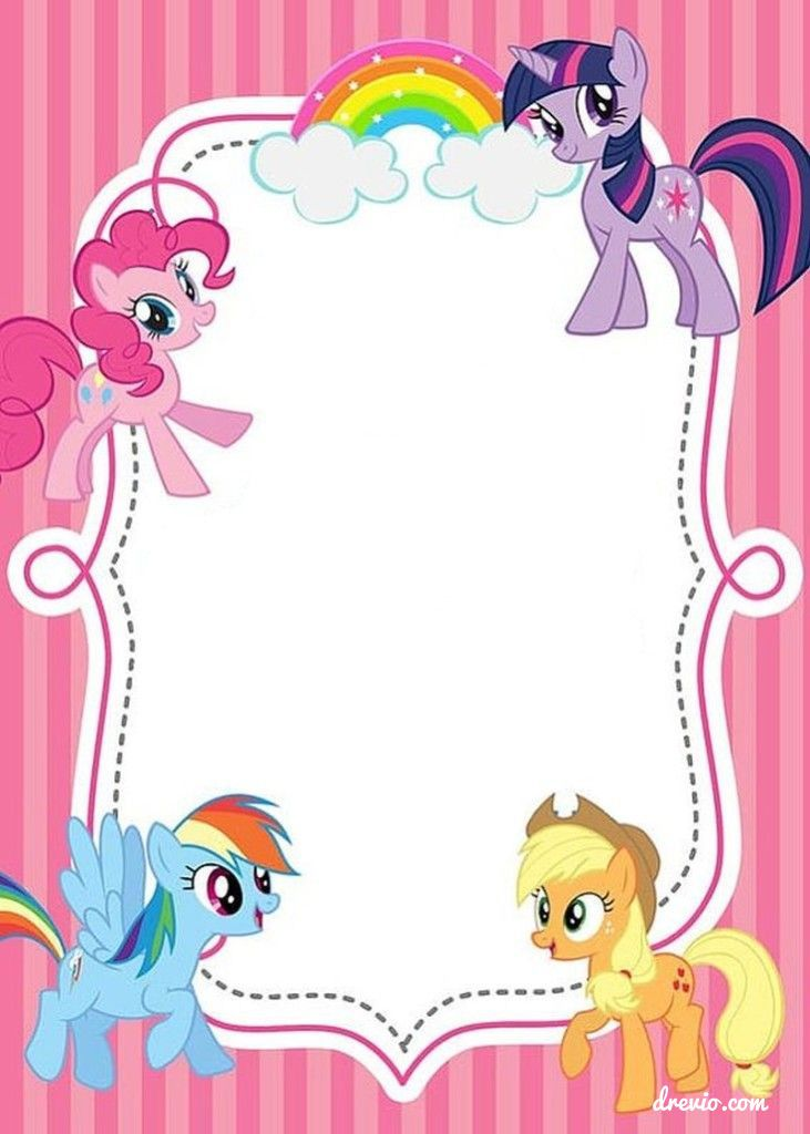 Free (UPDATED) Free Printable My Little Pony Birthday Invitations - birthday invitation design templates
