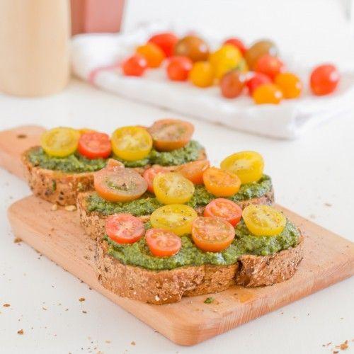 Vegan Pesto Bruschetta Recipe
