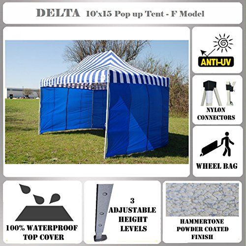 Best C&ing Tents | 10x15 Pop up Canopy Wedding Party Tent Gazebo EZ UP Blue Stripe  sc 1 st  Pinterest & Best Camping Tents | 10x15 Pop up Canopy Wedding Party Tent Gazebo ...