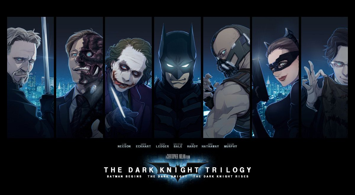 The Dark Knight Trilogy By Mcnealy On Deviantart With Images