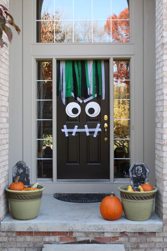 25 halloween decorations to make at home - Homemade Halloween Door Decorations