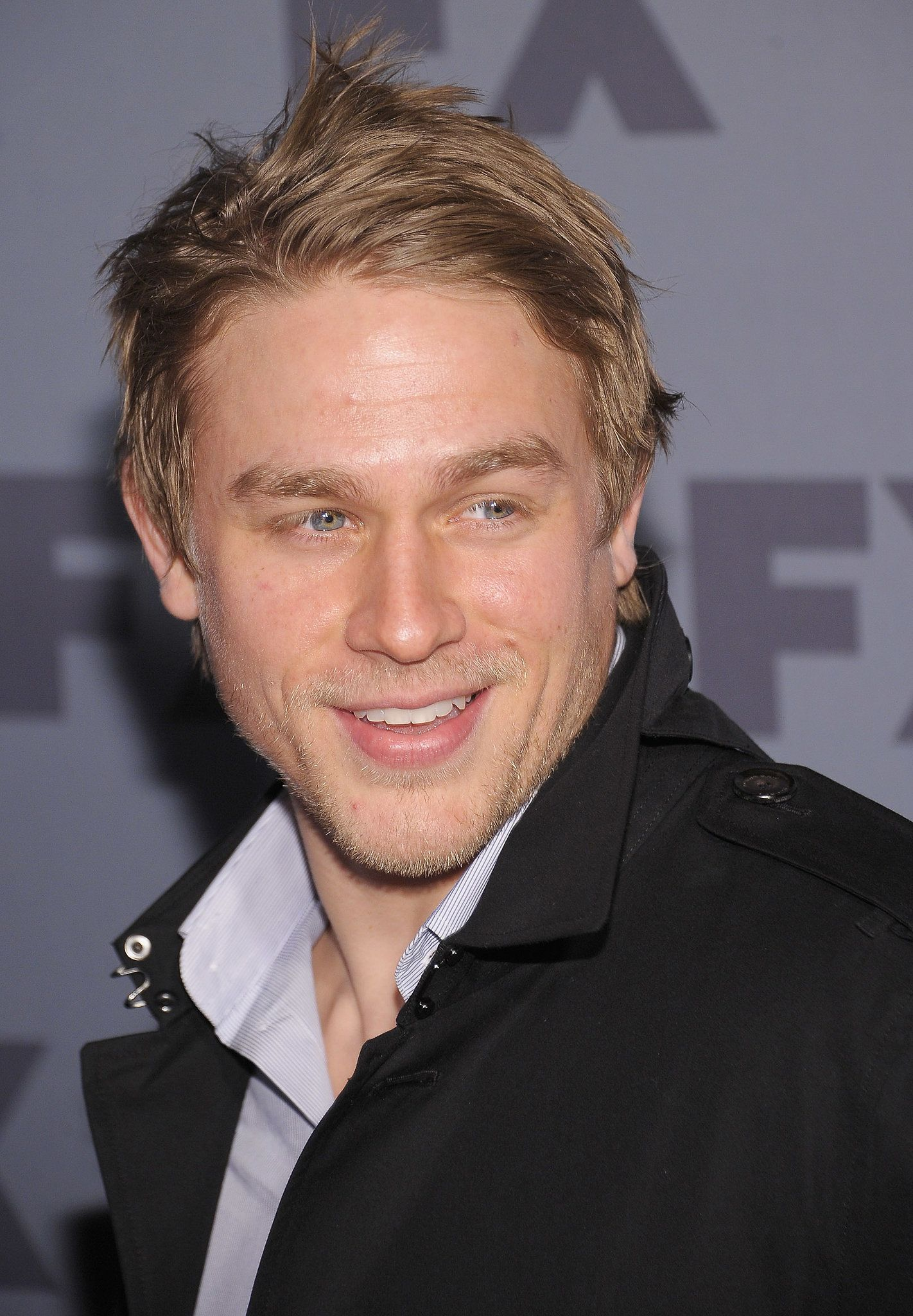 When he was young and shorthaired charlie hunnam