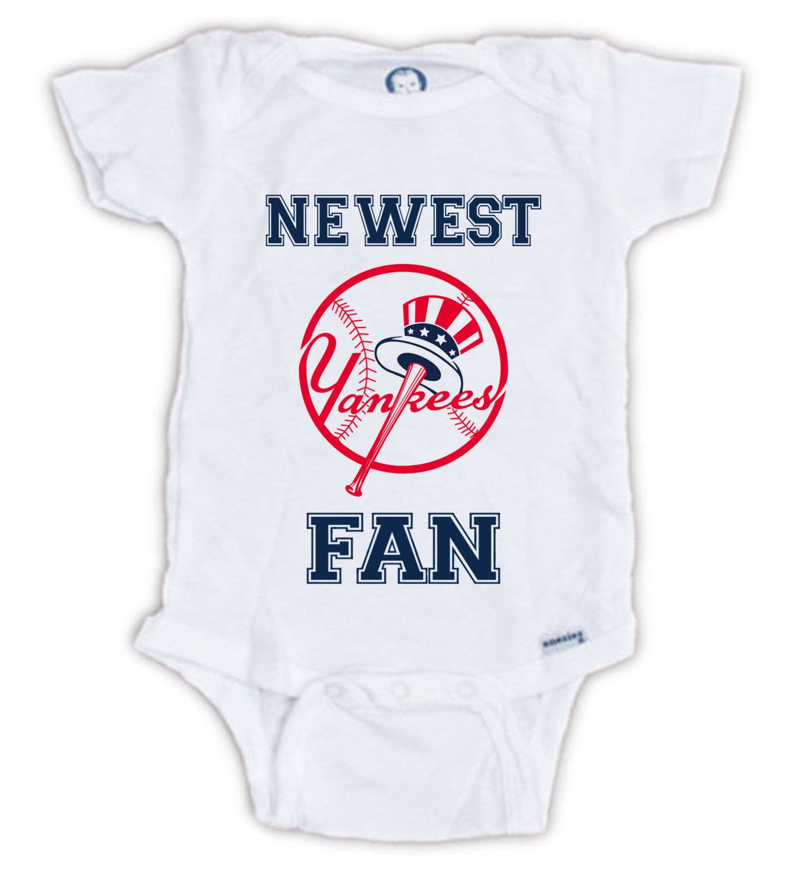 New York YANKEES FAN Baby esie Baby Bodysuit Baseball esie