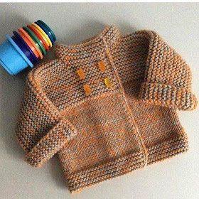 Das Mãos da Teresinha  Casaco de tricô para bebé tam. 6 meses (com PAP) Mais 0d1ea06f12d