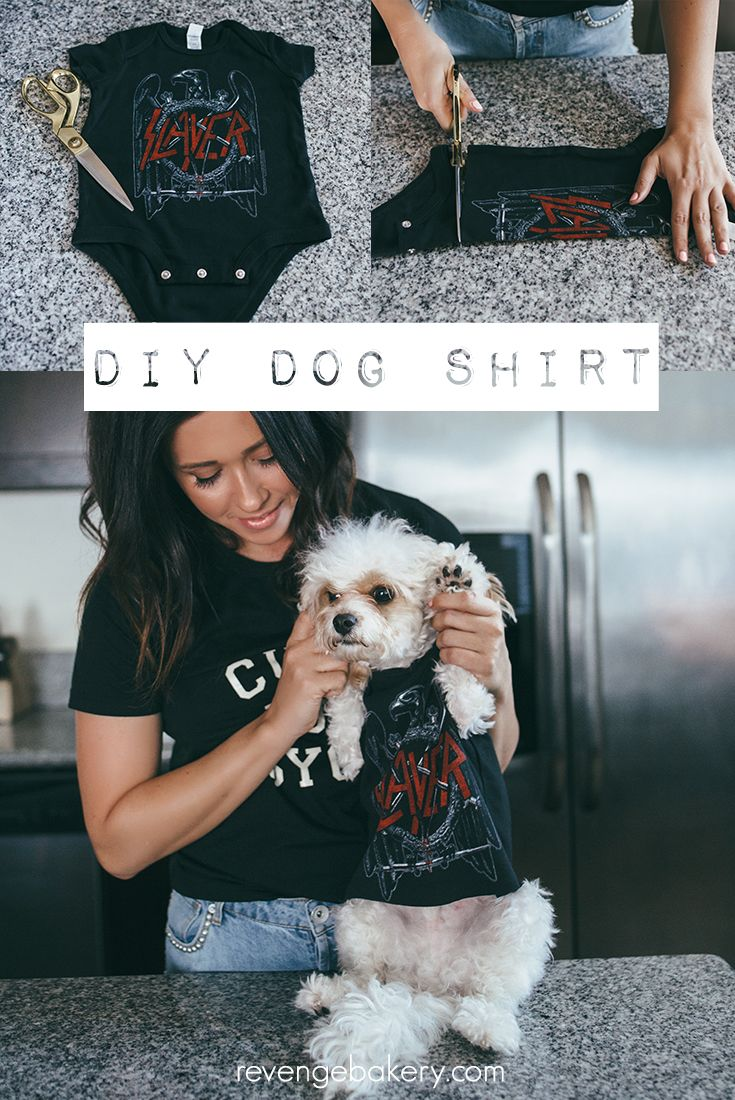 e999e2df8 How to make a DIY DOG SHIRT using a baby onesie! DIY- Make your own dog  shirt- Punk Rock Puppy Project- Band Tee-