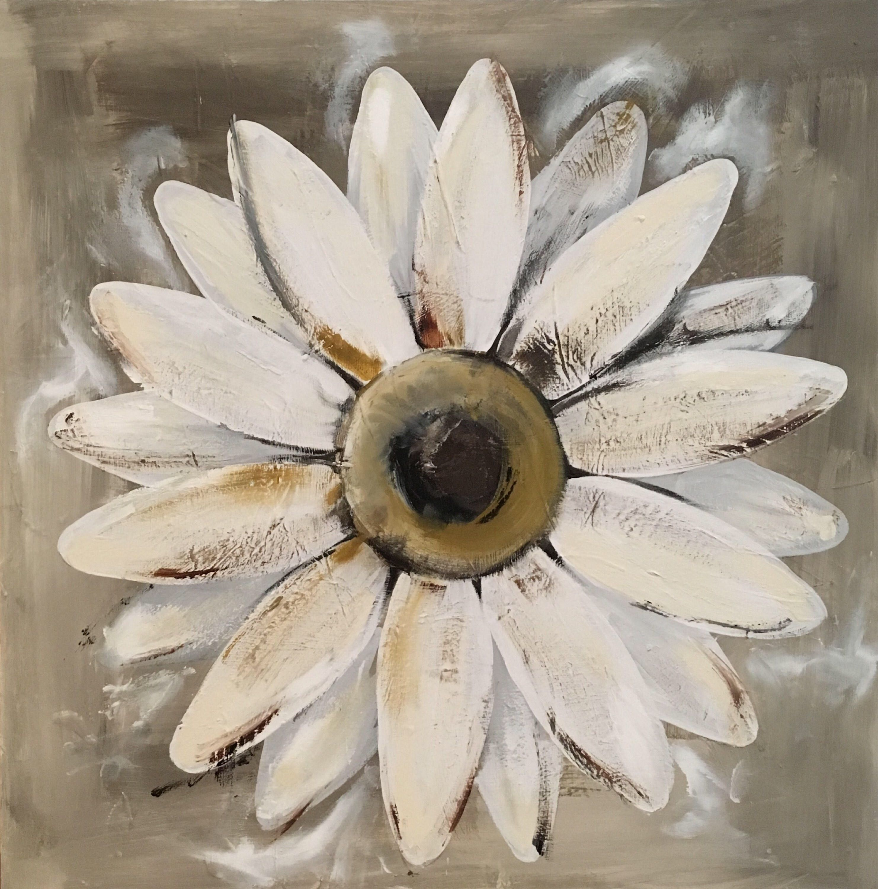 Pin By Rose Thompson On Art Ii Pinterest Daisy Painting Flower
