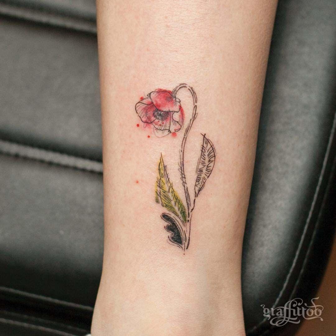 aaca63fe71a84 Small Poppy Tattoo | Tattoos | Poppies tattoo, Poppy tattoo small ...