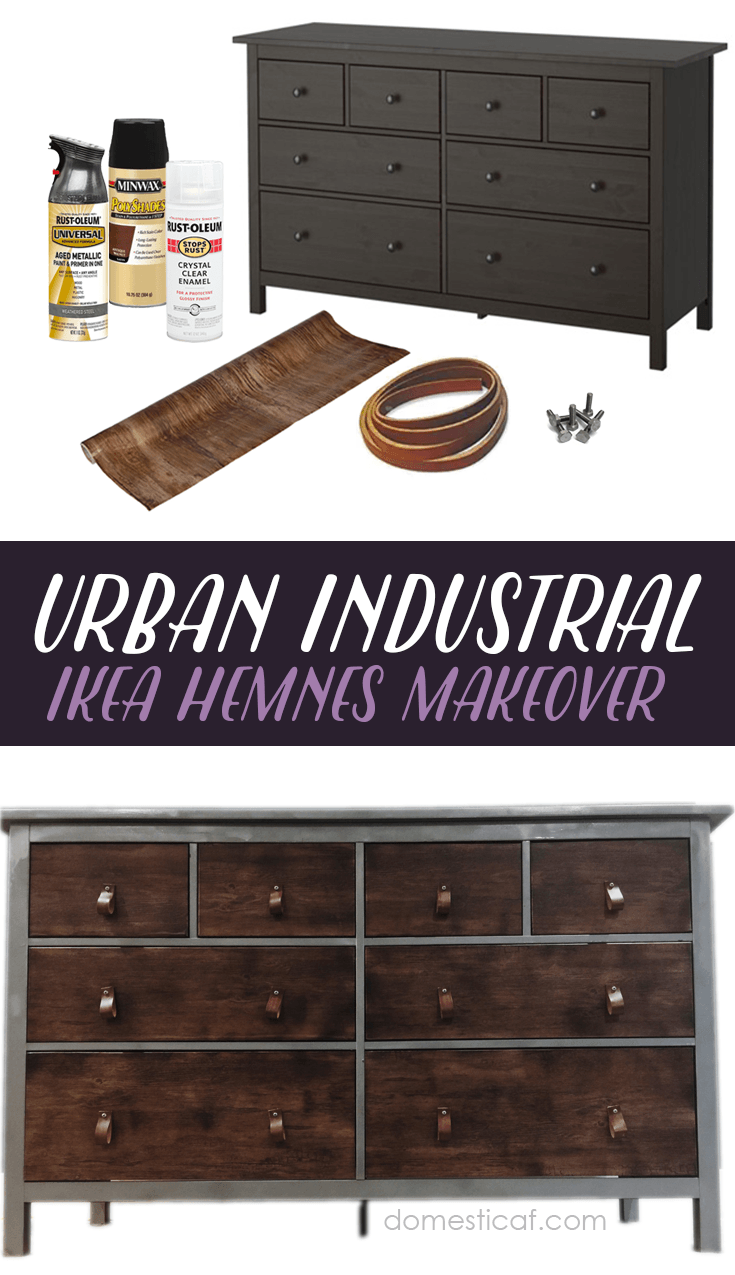 ikea hack urban industrial dresser meubles renovation meuble et meubles ikea. Black Bedroom Furniture Sets. Home Design Ideas