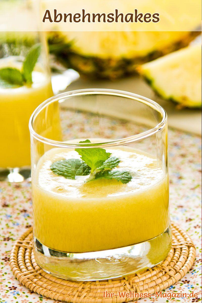 Smoothies zum Abnehmen und Fettverbrennung mit Ananas