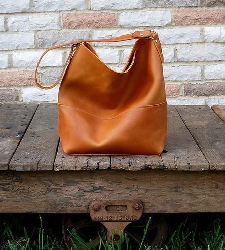 Catalina Leather Hobo Bag | Smooth, Hunt's and Flats