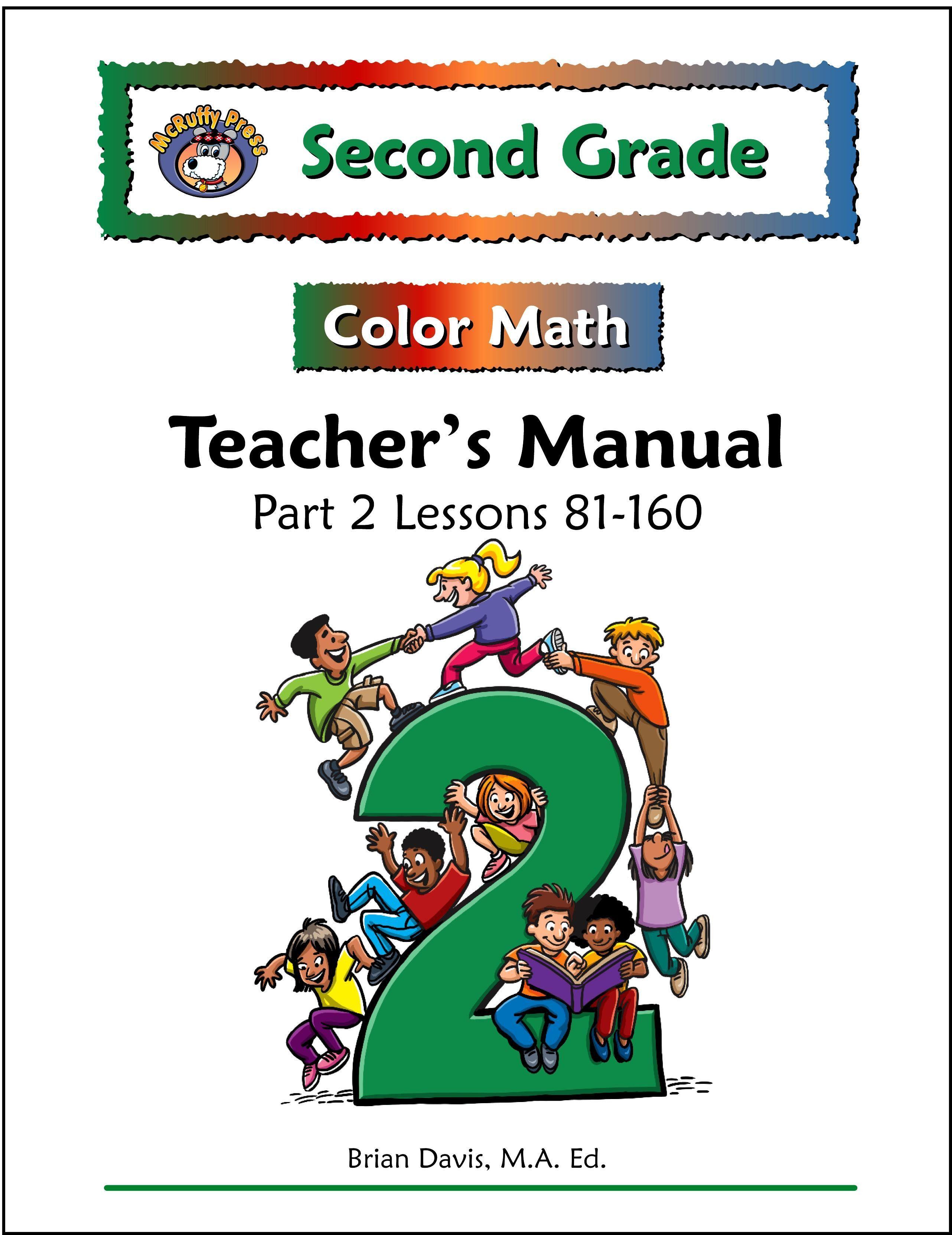 Second Grade Color Math Teacher\'s Manual Part 2 | Products